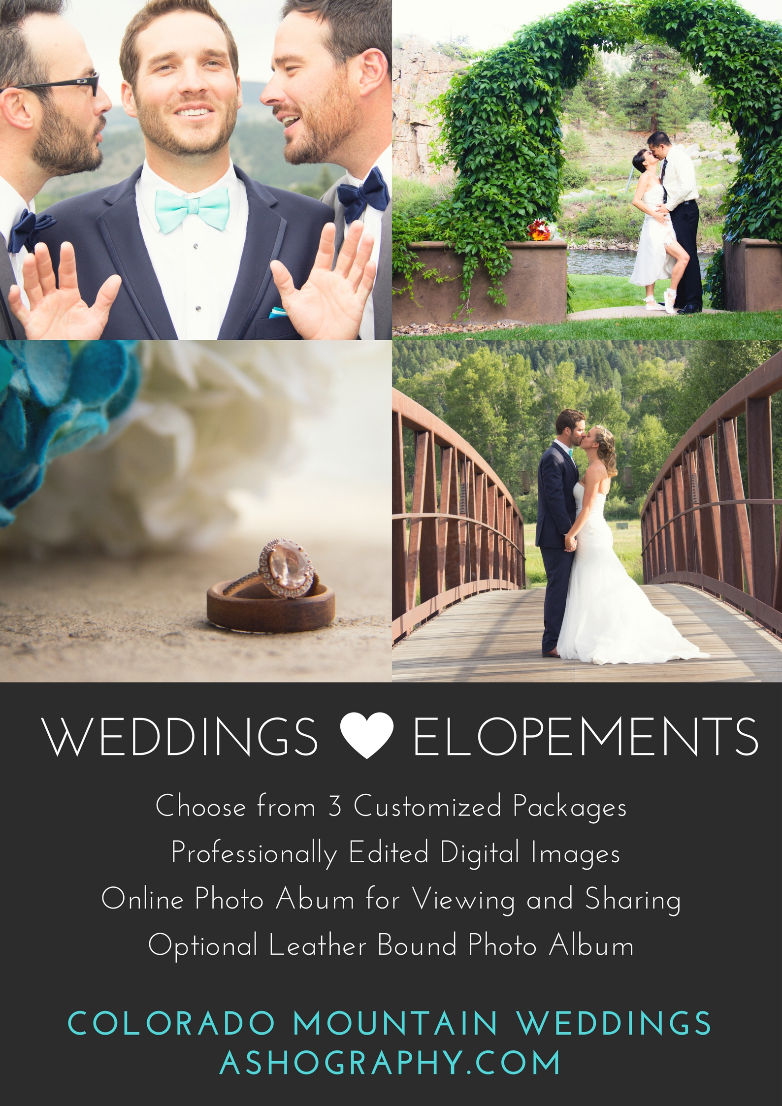 Flyer for South Fork wedding photographer